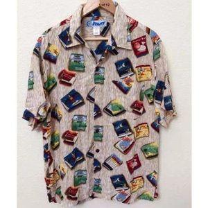 UTILITY Mens Button Down Hawaiian Shirt S Medium